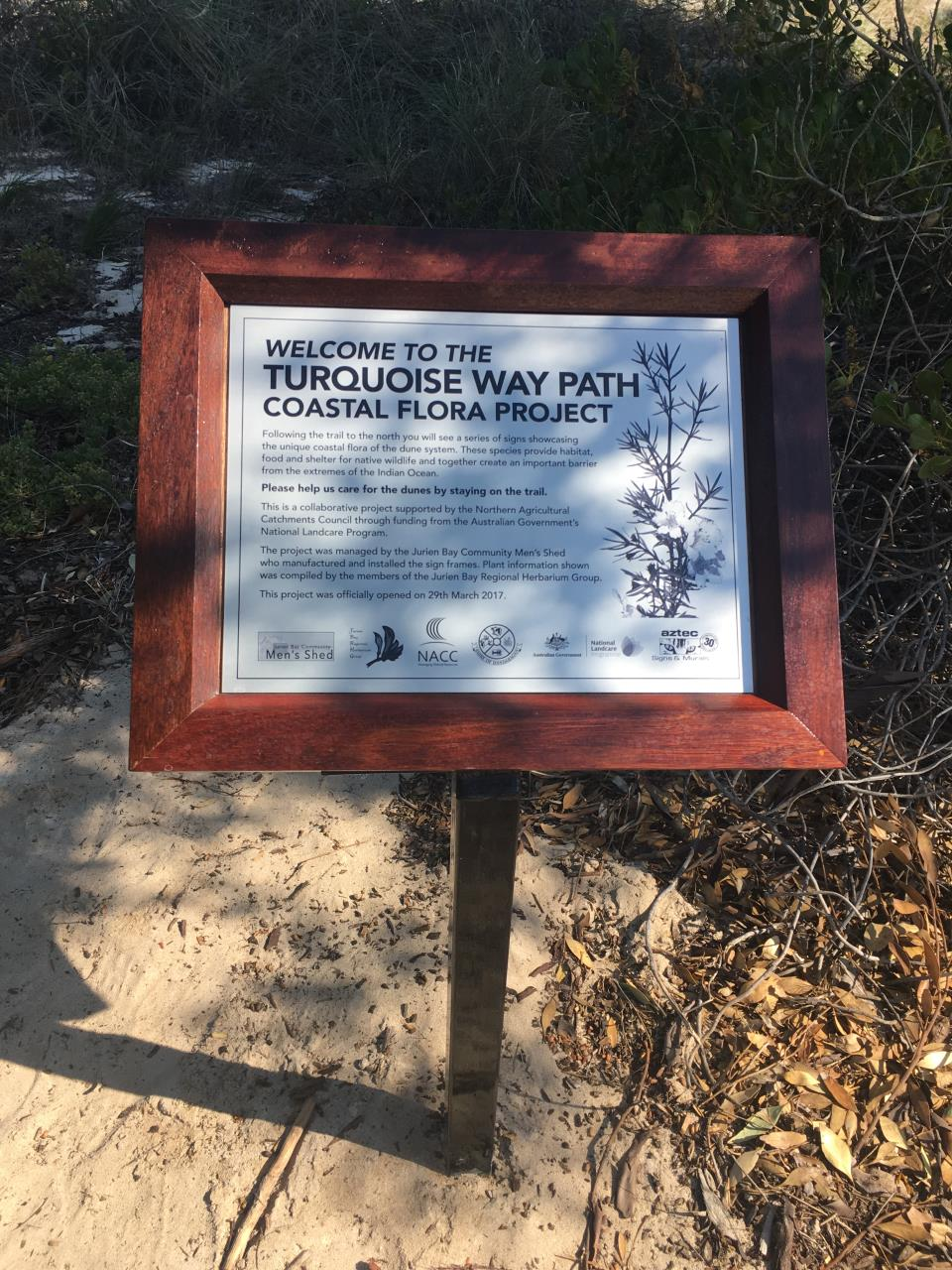 TURQUOISE WAY PATH FLORA INTERPRETATION TRAIL OPENED