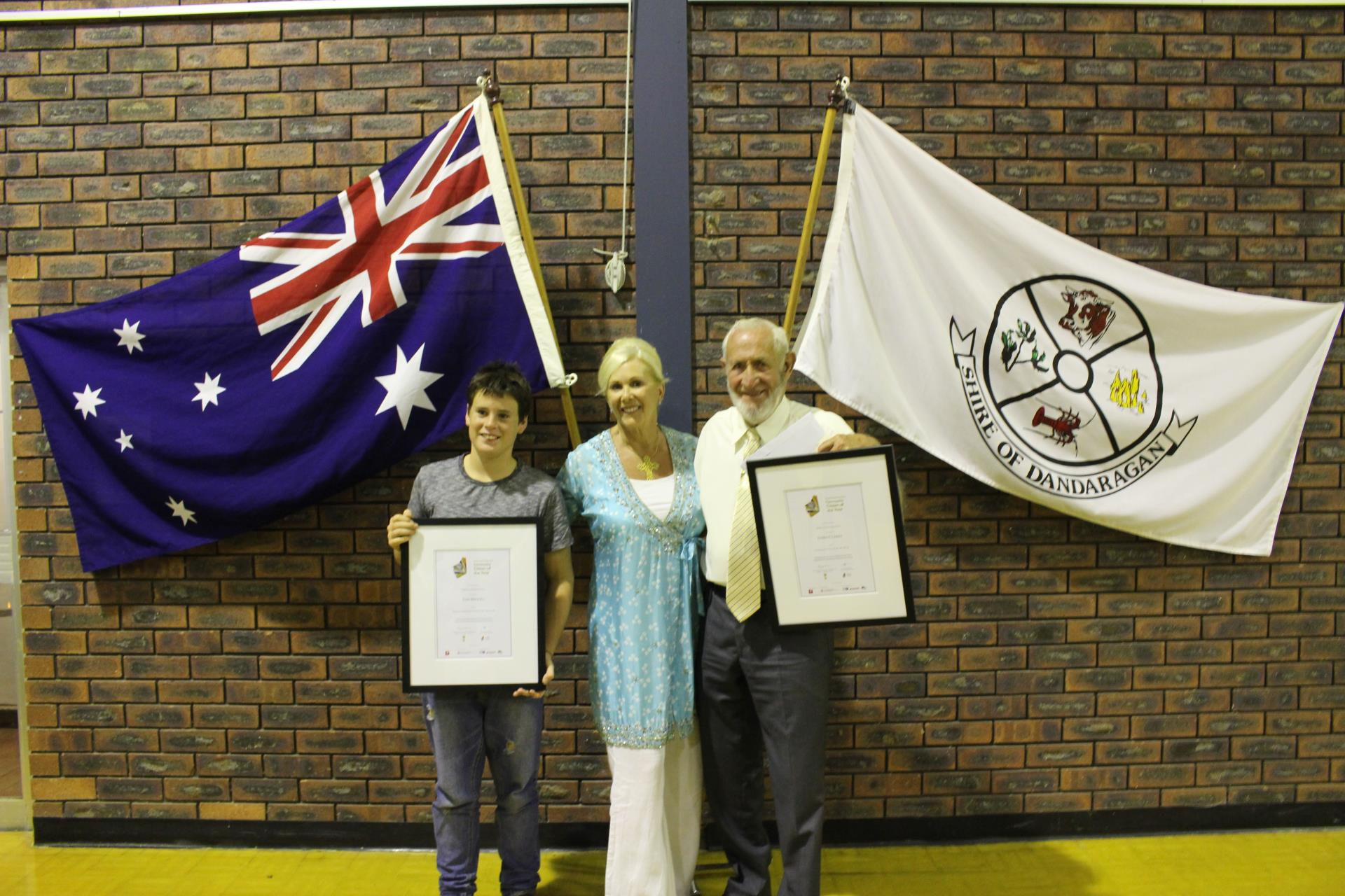 2016 Citizen of the Year and Young Citizen of the Year winners for Shire of Dandaragan