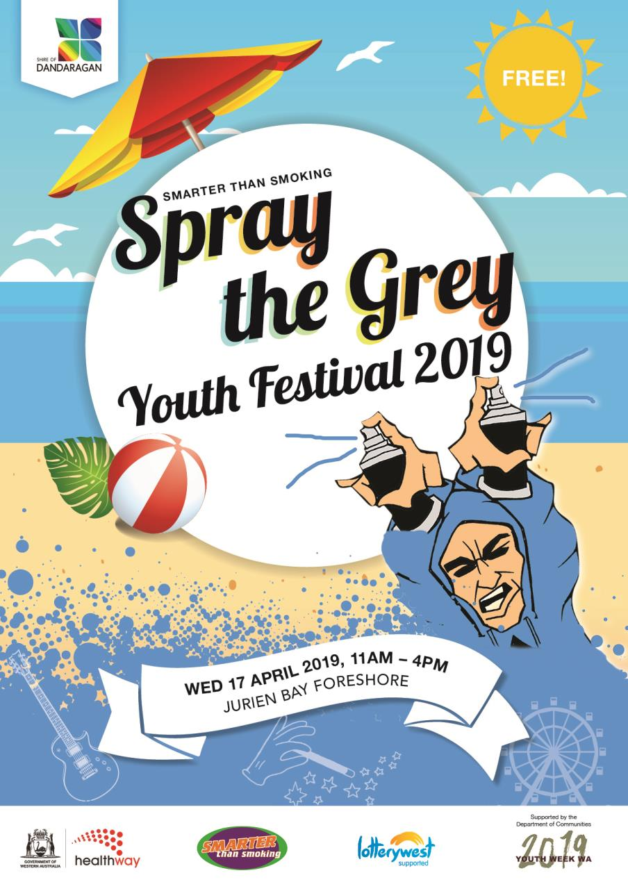 Smarter than Smoking Spray the Grey Youth Festival (Jurien Bay)