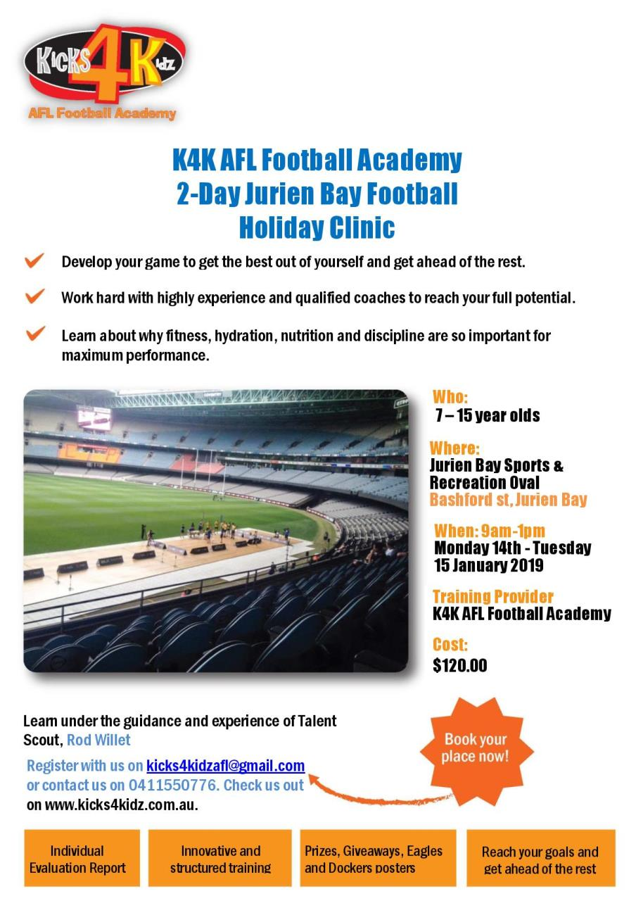 2-Day Jurien Bay Football Holiday Clinic