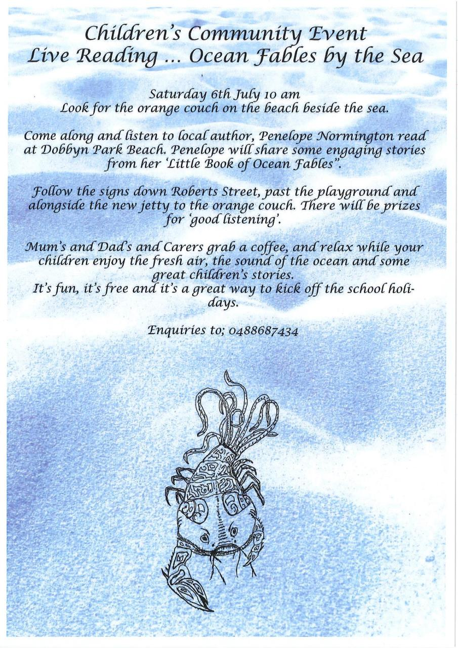 Ocean Fables by the Sea storytelling (Jurien Bay) - POSTPONED TIL FURTHER NOTICE