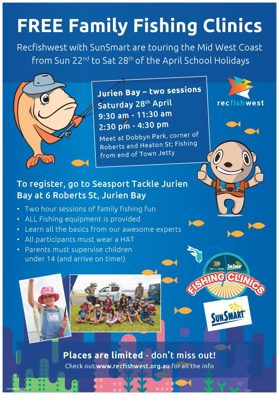 Sunsmart Community Fishing Clinics (Jurien Bay)