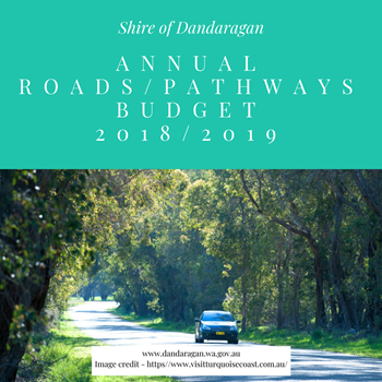 ANNUAL ROADS & PATHWAYS BUDGET NEWS 2018/2019