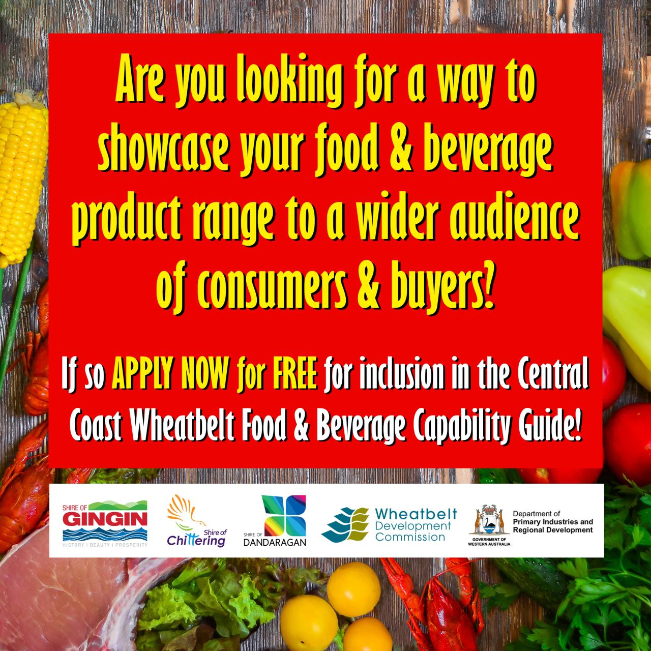 Calling all local Food and Beverage Product Producers