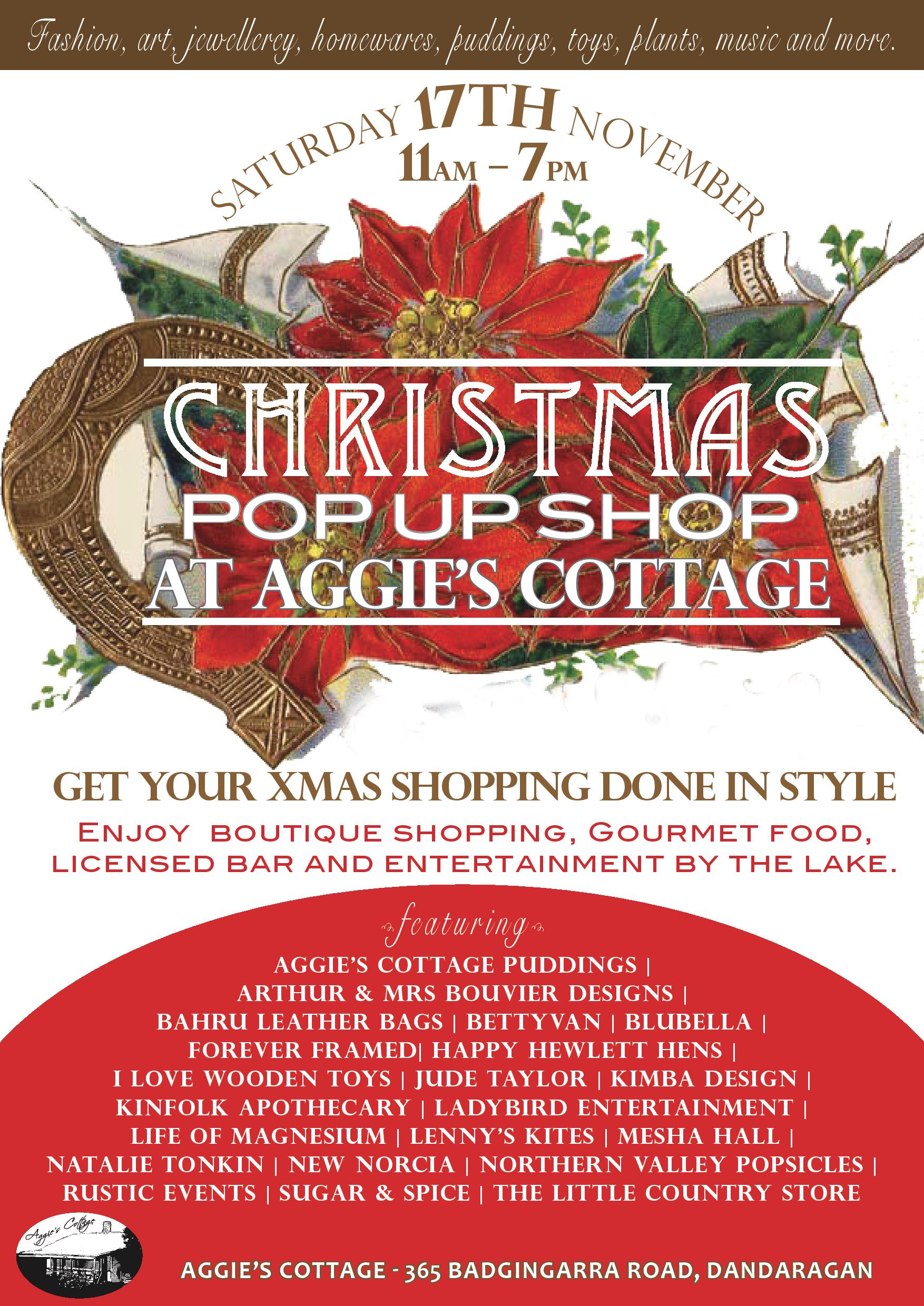 Aggies Cottage Christmas Pop Up Shop (Dandaragan)