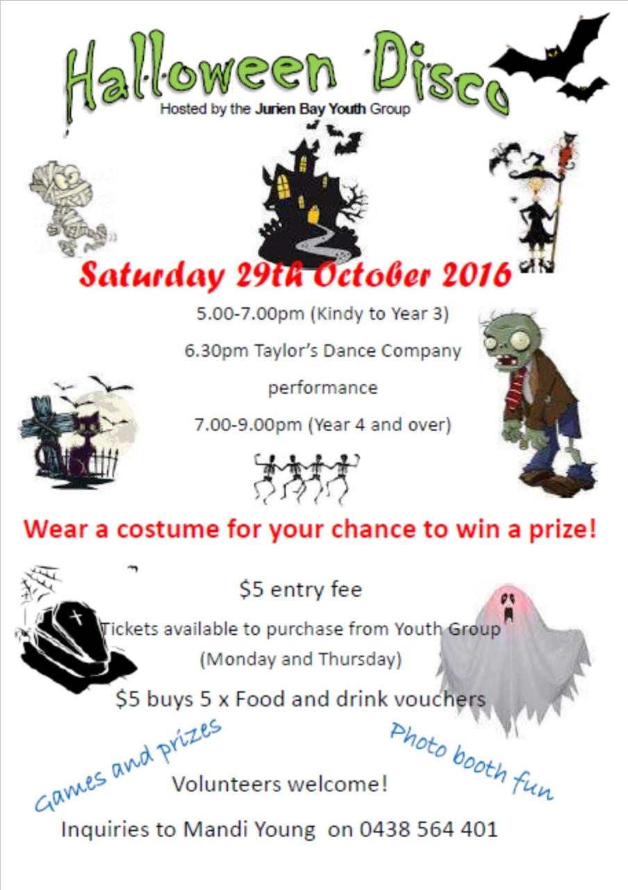 Jurien Bay Youth Group Halloween Disco